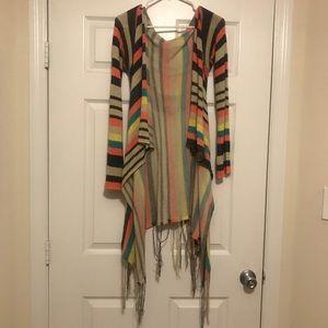 Daytrip Rainbow hooded cardigan